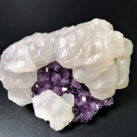 Amethyst In Calcite
