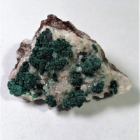 Duftite & Malachite On Calcite