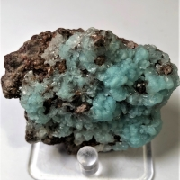 Hemimorphite With Willemite On Goethite