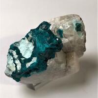 Dioptase & Chrysocolla On Calcite