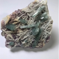 Elbaite With Albite & Lepidolite