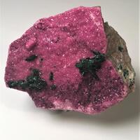 Cobaltoan Calcite With Malachite & Heterogenite