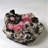 Rhodochrosite With Sphalerite On Matrix