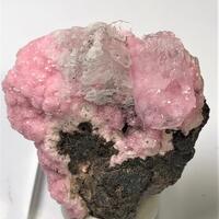 Rhodochrosite With Quartz & Selenite