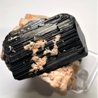 Tourmaline Var Schorl On Feldspar