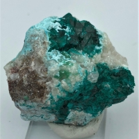 Dioptase With Chrysocolla & Calcite