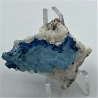 Shattuckite With Chrysocolla & Calcite