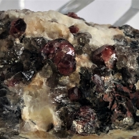 Almandine With Muscovite & Quartz In Feldspar