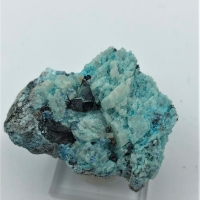 Cuprite With Bisbeeite Chrysocolla & Calcite