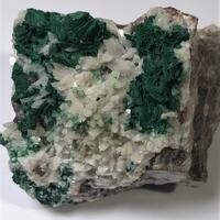 Malachite Psm Baryte With Calcite