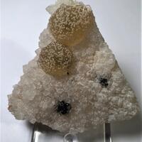 Fluorite On Quartz With Calcite
