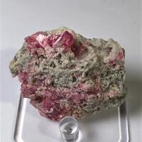 Rhodochrosite With Pyrite