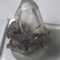 Axinite In Quartz
