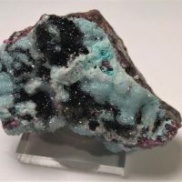 Chrysocolla With Quartz Cobaltoan Calcite & Heterogenite