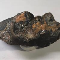 Smithsonite On Coronadite & Goethite