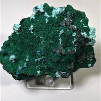 Malachite With Chrysocolla & Shattuckite On Cuprite