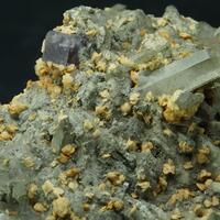 Siderite On Quartz & Fluorite