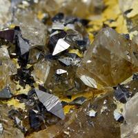 Anatase On Rock Crystal