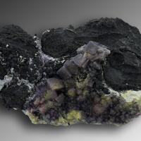 Fluorite On Native Arsenic