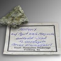 Millerite On Pyrite
