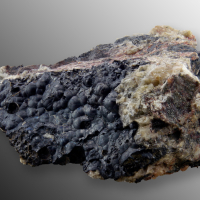 Uraninite Var Pitchblende & Calcite