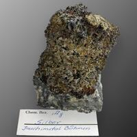 Native Silver On Calcite