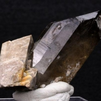 Smoky Quartz With Orthoclase