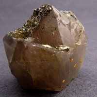 Smoky Quartz With Pyrite & Spessartine