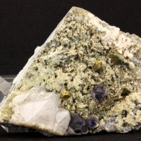 Chalcopyrite Quartz & Fluorite