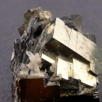 Pyrite With Stibnite