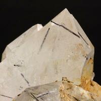 Quartz With Elbaite Inclusions