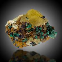Fluorite Malachite & Azurite