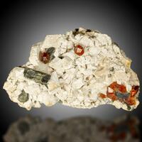 Garnet Var Spessartine With Muscovite & Feldspar