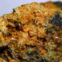 Curite & Uraninite & Gold