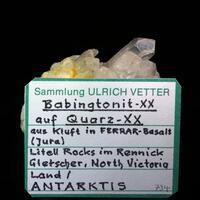 Babingtonite & Quartz