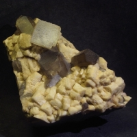 Fluorite Smoky Quartz & Microcline