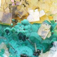 Fluorite & Malachite