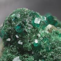 Malachite Dioptase & Calcite