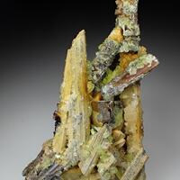 Stibiconite Baryte Sulphur & Valentinite