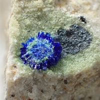 Native Silver Azurite & Malachite