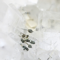 Millerite Calcite & Pyrite