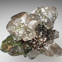 Cerussite Duftite Goethite & Calcite