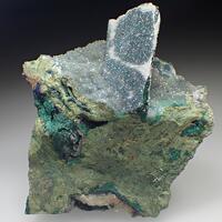 Azurite With Malachite Psm Azurite & Quartz