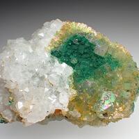 Fluorite Cornwallite & Bariopharmacosiderite