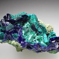 Azurite Brochantite Bayldonite & Olivenite
