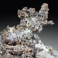 Native Silver Acanthite & Quartz