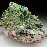 Dioptase & Duftite & Calcite