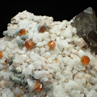 Spessartine Smoky Quartz Muscovite & Albite