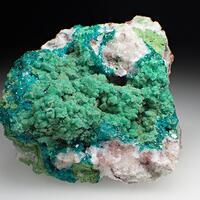 Dioptase Calcite & Duftite