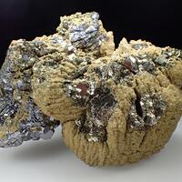 Rhodochrosite Pyrite Galena & Quartz
